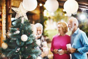 Senior Celebrating Winter Holidays